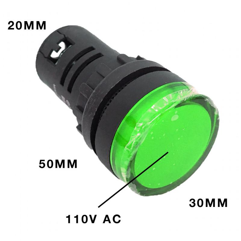 PILOT LAMP LED 110VAC GREEN AD16-22DS