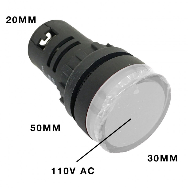 PILOT LAMP LED 110VAC WHITE AD16-22DS