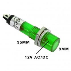PILOT LAMP 12V DC/AC GREEN N-004