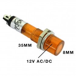 PILOT LAMP 12V DC/AC LAMP ORANGE N-004