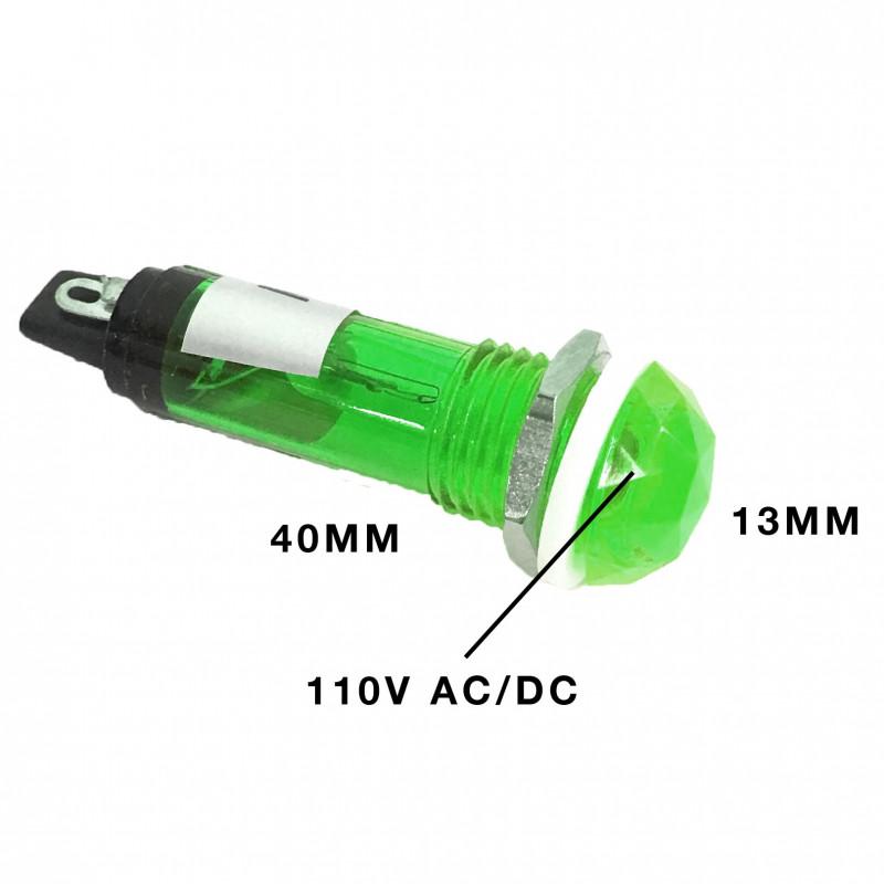 PILOT LAMP 120V AC NEON LAMP GREEN N-017