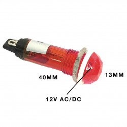 PILOT LAMP 12V DC/AC LAMP RED N-017