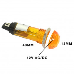 PILOT LAMP 12V DC/AC LAMP ORANGE N-017
