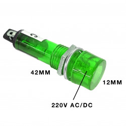 PILOT LAMP 220VAC GREEN N-034/XD10-3