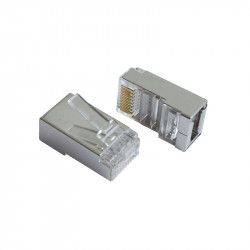 RJ-45 CAT5 SHIELDED CRIMP CONNECTOR 2PCS/PKG