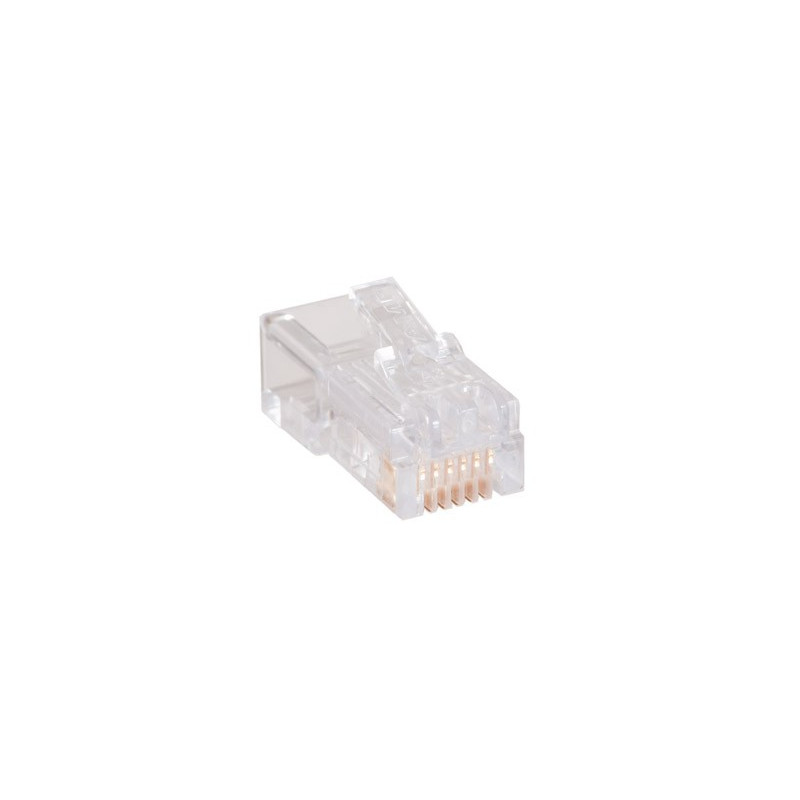 RJ-12 6P6C CRIMP CONNECTOR 4PCS/PKG