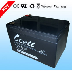 BATTERY, RECHARGEABLE, RHC, LEAD ACID, 12V, 12AH