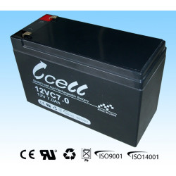BATTERY, RECHARGEABLE SLA, LEAD ACID, 12V, 7AH