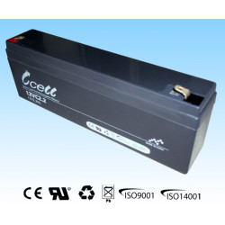 BATTERY, RECHARGEABLE SLA, LEAD ACID, 12V, 2.2AH