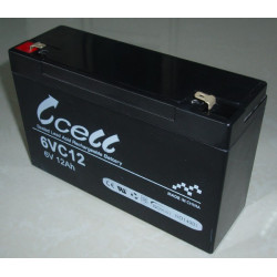 BATTERY, RECHARGEABLE SLA, LEAD ACID, 6V, 12AH