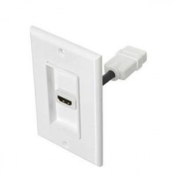 WALL PLATE HDMI SINGLE SLOT