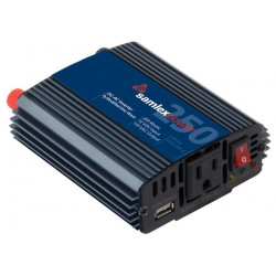 POWER INVERTER 250W 12VDC TO 115VAC W/5V USB OUT