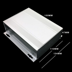 ENCLOSURE, INSTRUMENT ALUM-CASE HF-64 150x110x47mm