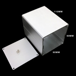 ENCLOSURE 90X90X110MM ALUMINIUM EXTRUDED