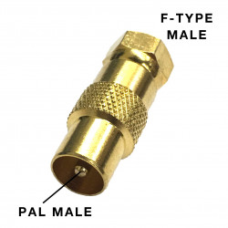 F-TYPE MALE AND PAL MALE ADAPTER