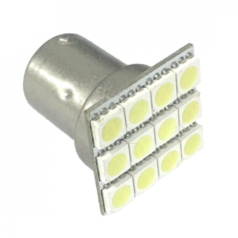 LED LAMP 1156-12LED COLD WHITE
