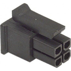 MOLEX CONNECTOR, RECEPTACLE, 4P, 3MM, 2 ROW W/PINS