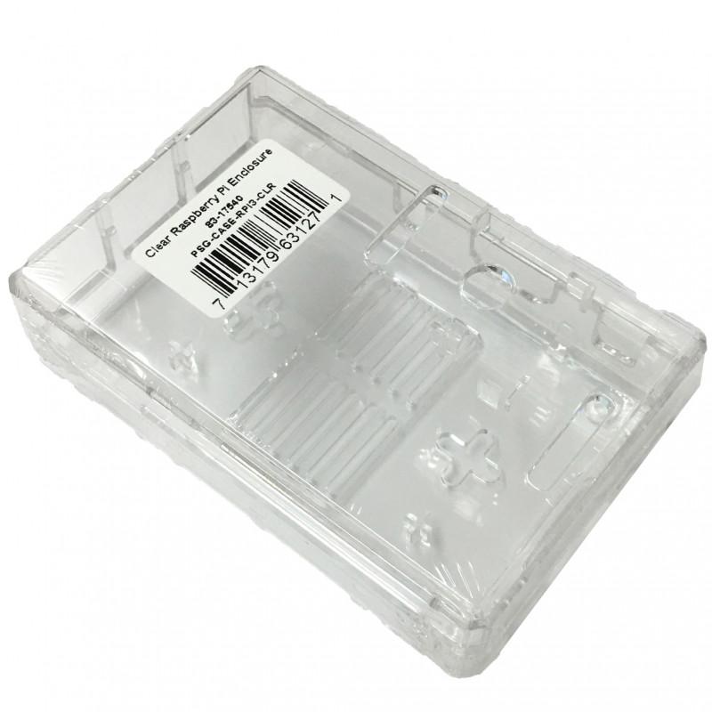 ENCLOSURE, RASPBERRY PI CASE, PLASTIC, CLEAR