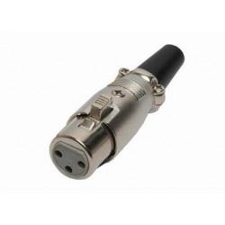 XLR (F) CONNECTOR CABLE SCREW LOCK