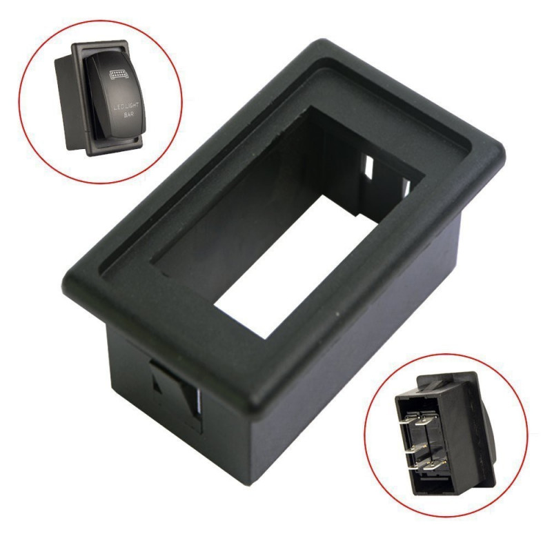 SINGLE POSITION AUTOMOTIVE ROCKER SWITCH MOUNTING BRACKET