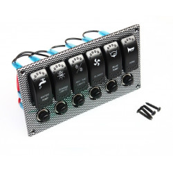 MARINE SWITCH PANEL 6 ROCKER W/ BREAKER