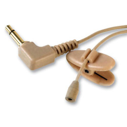 MICROPHONE, CLIP ON LAVALIER, 2.1MM R. ANGLE PLUG , BEIGE