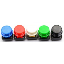 TACK SWITCH OMRON B3F WITH BLACK CAP