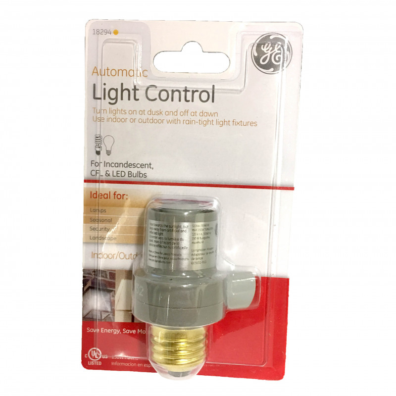 GE AUTOMATIC INDOOR/OUTDOOR LIGHT CONTROLLER E27
