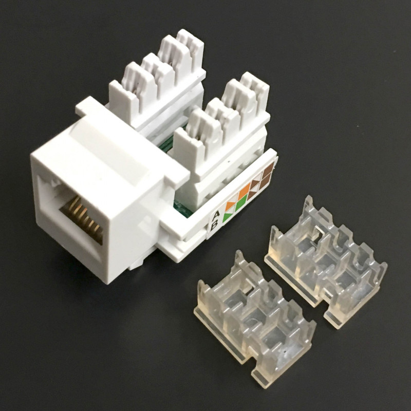 KEYSTONE RJ-45 CAT5E PUSH DOWN JACK WHITE