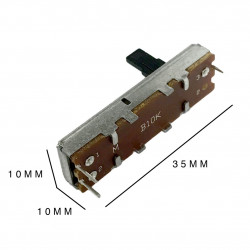 POTENTIOMETER (SLIDE (B)) 10K TRAVEL 20MM 9.5X35MM