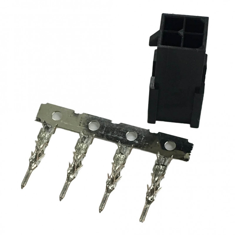 MOLEX CONNECTOR, PLUG, 4P, 3MM 2 ROW W/PINS