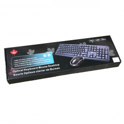 USB KEYBOARD / OPTICAL MOUSE (BLACK)