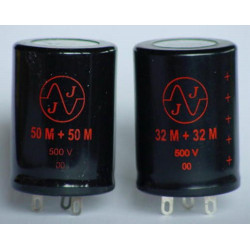 ELECTROLYTIC JJ CAP 500V 32/32UF