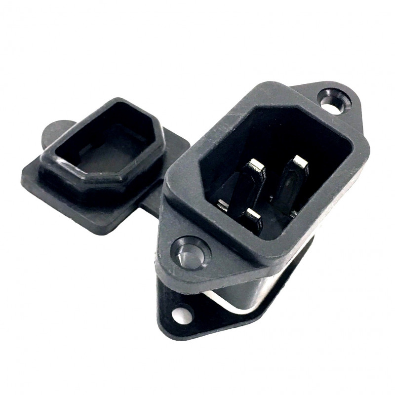 IEC POWER SOCKET WITH WATERPROOF CAP