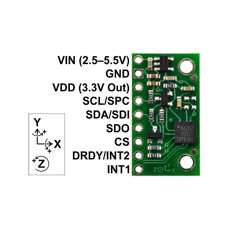 3-AXIS GYRO CARRIER WITH VOLTAGE REGULATOR L3GD20