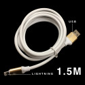 USB CABLE 2.0 TO IPHONE 5 / 6 LIGHTNING 5FT