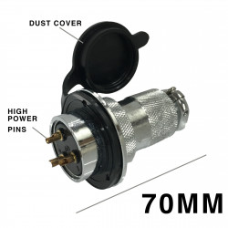 DIN METAL CONNECTOR PANEL MOUNT 3P MALE SLF-5901C