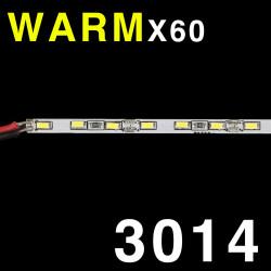 LED SOLID STRIP 3014 60-LED, WARM WHITE