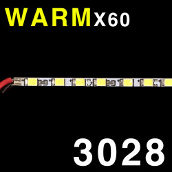 LED SOLID STRIP 3020 60-LED WARM WHITE