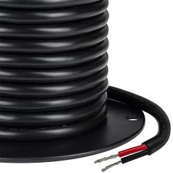 2 CORE WIRE 20AWG R/B W/ BLACK PVC JACKET - PER FOOT