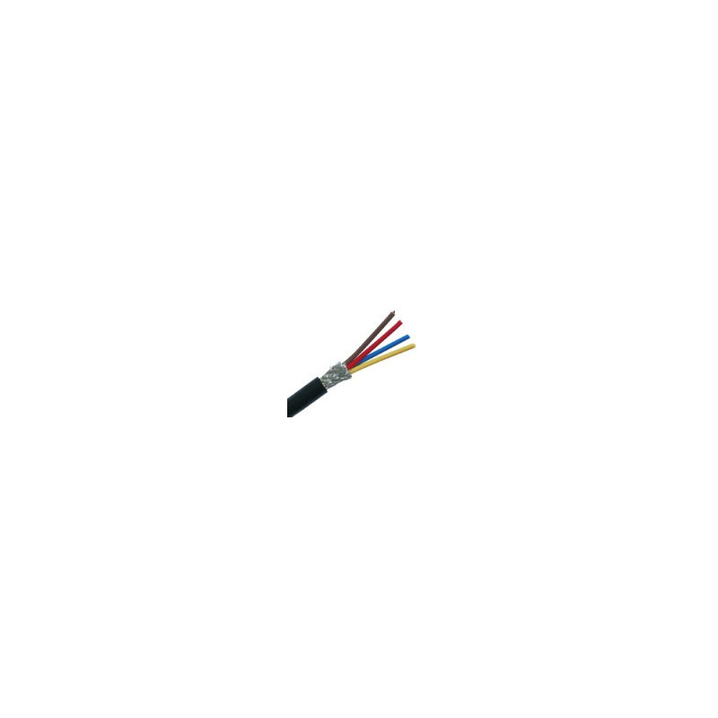 CABLE 4X22AWG BLACK SHIELDED CABLE