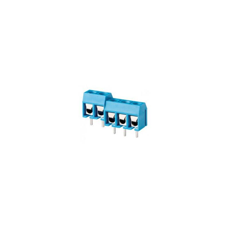TERMINAL BLOCK BLUE 3POS (F) AWG14-22 4/PKG