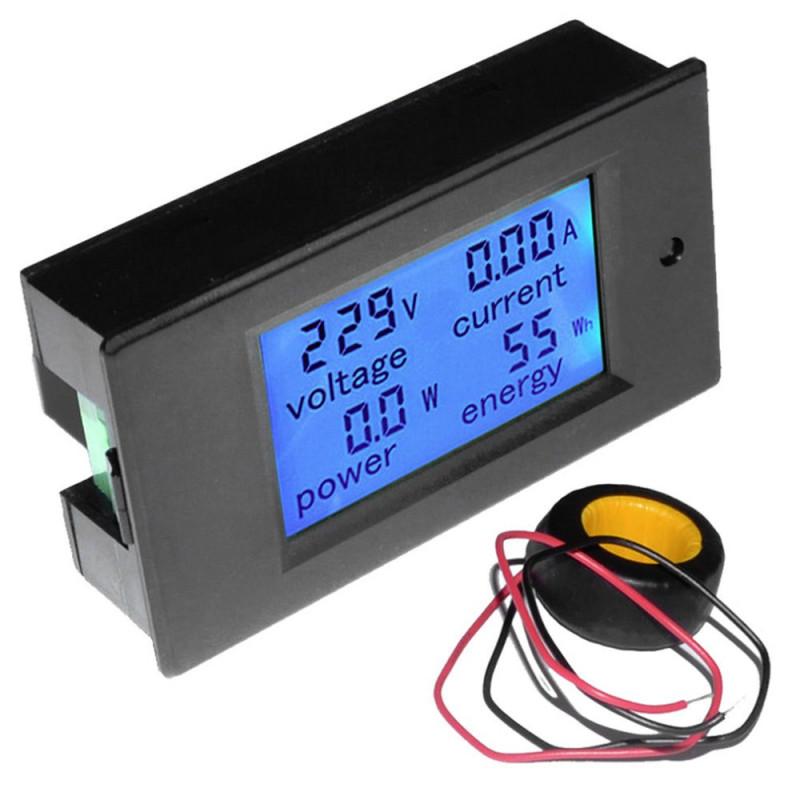 Pzem 061 Lcd Ac Volt Amp Watt Meter