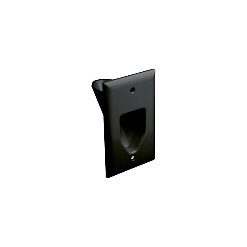 1-GANG RECESSED LOW VOLTAGE WALL PLATE BLACK