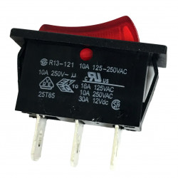 ROCKER SWITCH ON-OFF 125V-250V 10A LUMINATED NO LABEL