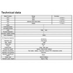 DIGITAL CLAMP METER VICTOR 6016B+