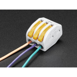 SNAP-ACTION WAGO 3 WIRE BLOCK 12-28AWG 300V 20A