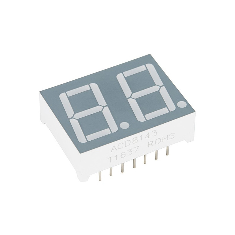 DUAL 7 SEGMENT DISPLAY - LED (RGB)