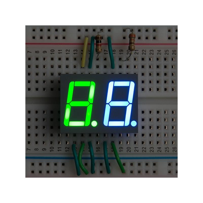 DUAL 7 SEGMENT DISPLAY - LED (RGB)