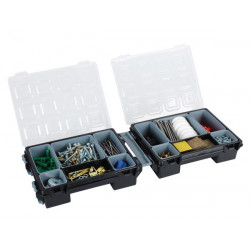 TOOL BOX, TWIN ORGANIZER W/ REMOVABLE COMPARTMENTS - 7 INCH